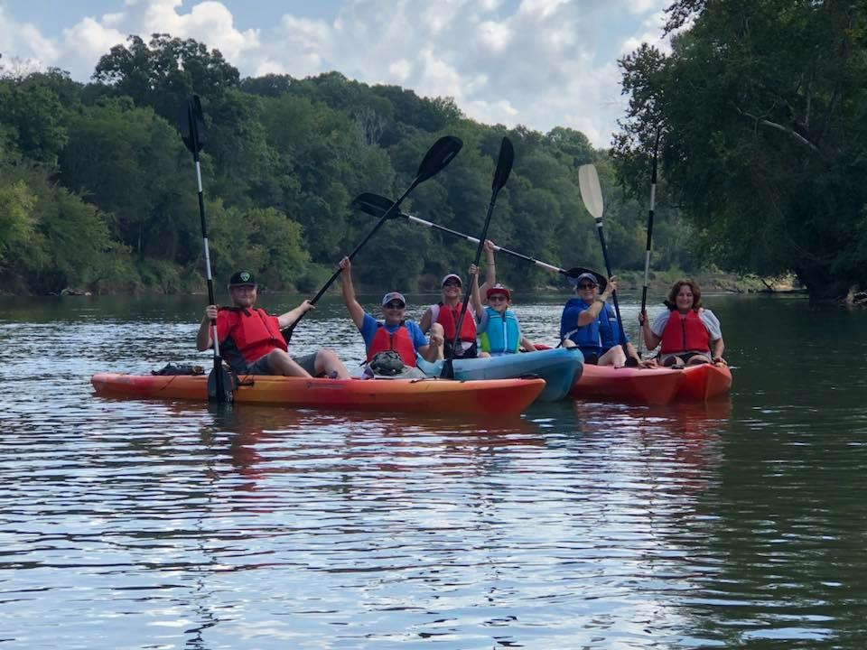 Kayakers on the Chattahoochee River