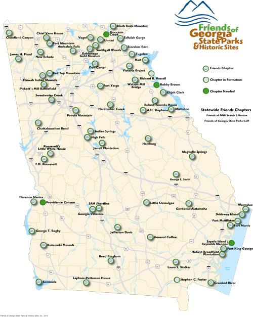 Map Of Georgia State Parks Swimnova