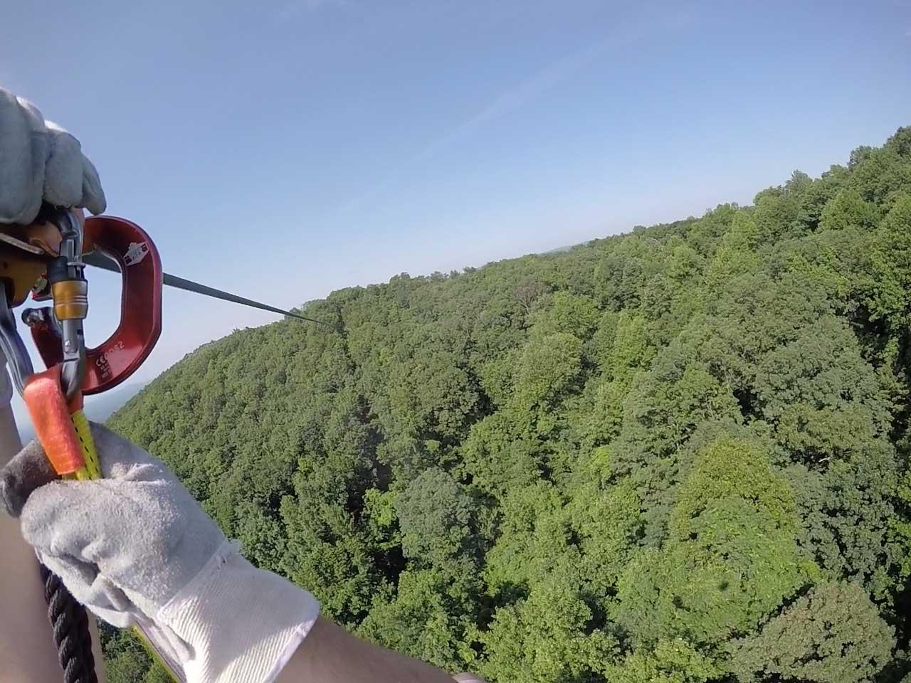 Zipline view at Amicalola State Park