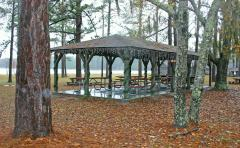 Picnic shelter at Laura Walker